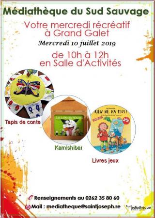 Votre mercredi récréatif à Grand Galet - Mercrdi 10 juillet