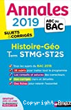 Histoire et géographie, Term STMG, ST2S