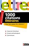 1000 citations littéraires